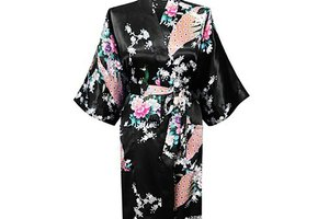 2015 Silk Kimono Robe Bathrobe Women Satin Robe Robe Longue Femme For Women Night Sexy Robes Night Grow For Bridesmaid Summer