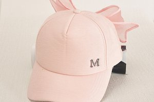 Summer Fashion Women Baseball Cap Pink Hats Bow Knot Hats Sunshade Hip-hop Cap